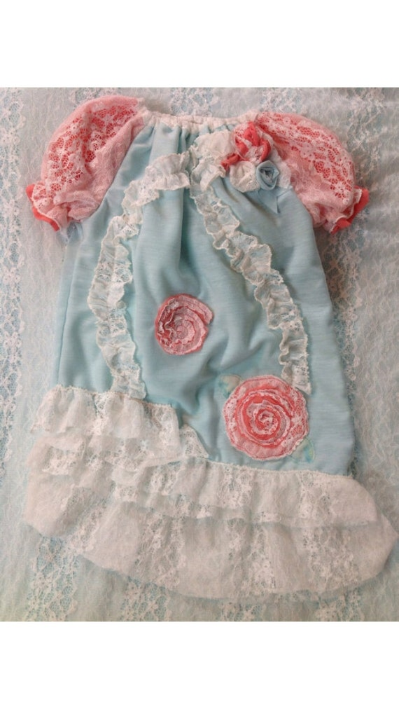 Items similar to Vintage look heirloom baby dress with