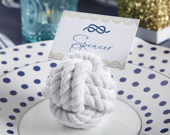 Nautical Cotton Rope Place Card Holder (Set of 18)