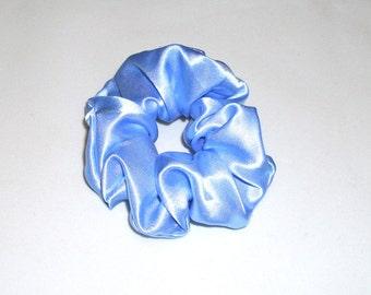 Scrunchy, Sky Blue Satin, BL 005