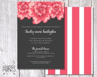 Modern Striped Floral - Wedding Save the Date (Camo)