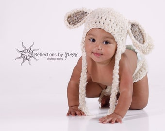 Lamb Baby Hat and Diaper Cover Crochet Pattern, Toboggan, Lamb Costume, gifts, Beanie, Lamb Crochet, Kids, Toddler, Child, Easter
