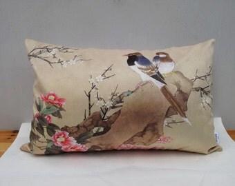 Decorative Velvet Pillow Cushion Cover Flower Bird Double Sides Pillowcase