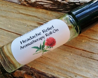 Headache Relief...Aromatherapy Roller..10mL roll on bottle...Tension Headache