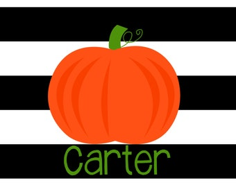 Personalized Placemat - 12x18 laminated placemat hallowen pumpkin