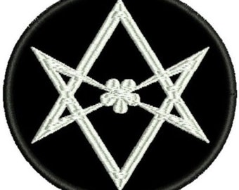 Unicursal Hexagram embroidered patch occult esoteric crowley
