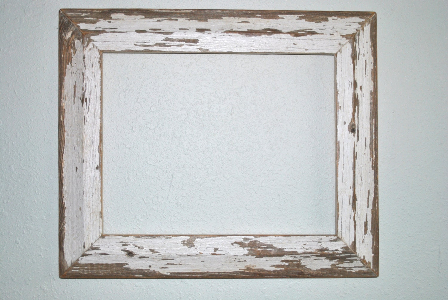 White Wood Frame : 11x14 Chippy White Wood Frame Reclaimed Old by BeamsBoardsBarns