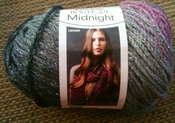 Knitting Patterns For Red Heart Boutique Midnight : Red Heart Boutique Midnight Yarn Shadow Yarn Gray Purple