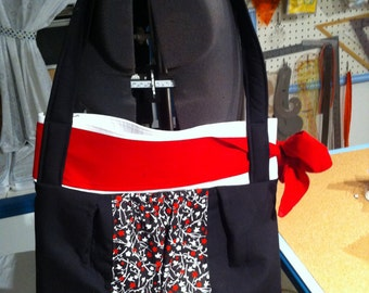 Bow Bag in Black and Red