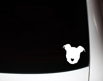 Pit Bull Head Decal 10% Proceeds to Pit Bull Organization