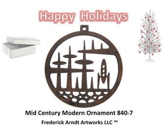 840-7 Mid Century Modern Christmas Ornament