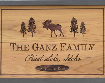 Rustic Camp Decor Custom Sign - Custom Cedar Sign - Wooden Camp Sign - Personalized Cabin Signs - Custom Lodge Sign - Wooden Camp Sign