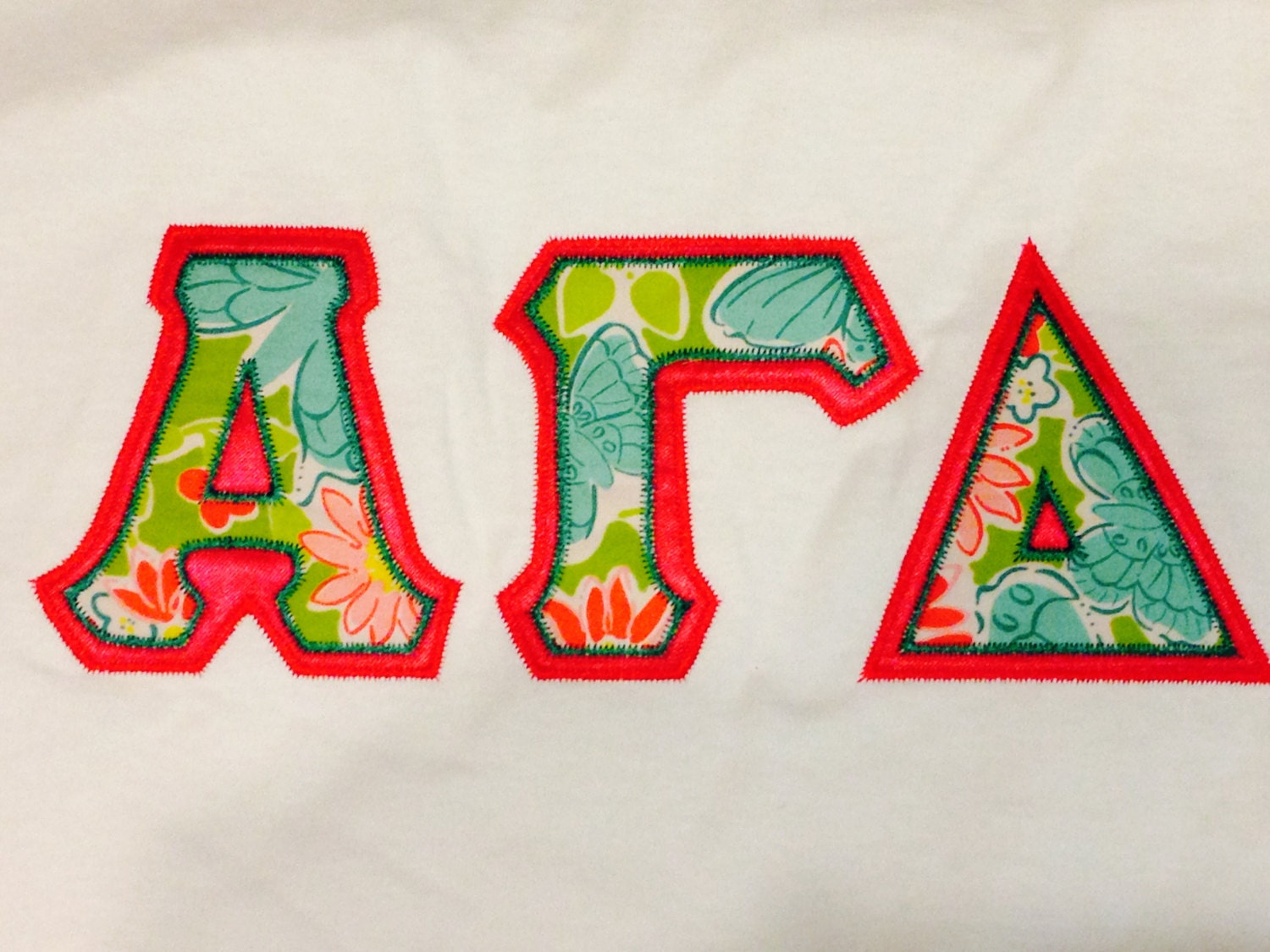 Sorority Letter Shirt Made With Lilly By Personalizedsunshine