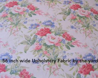 Shabby Chic Fabric 1 Yard Floral Upholstery Fabrics Interior Designer Fabrics on Sale