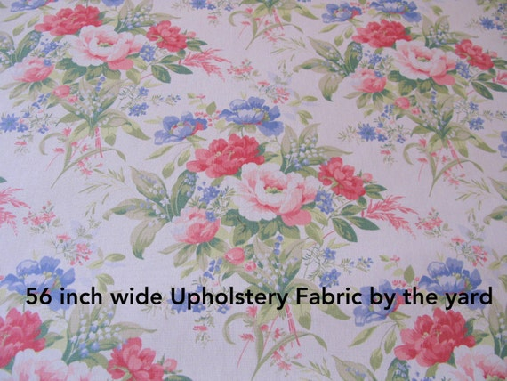 Shabby Chic Fabric 1 Yard Floral Upholstery 56 Wide Fabrics Interior Designer On Sale From VintageLakeshore Etsy Studio