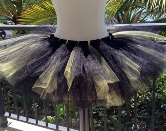 Adult Tutu - Black and Yellow
