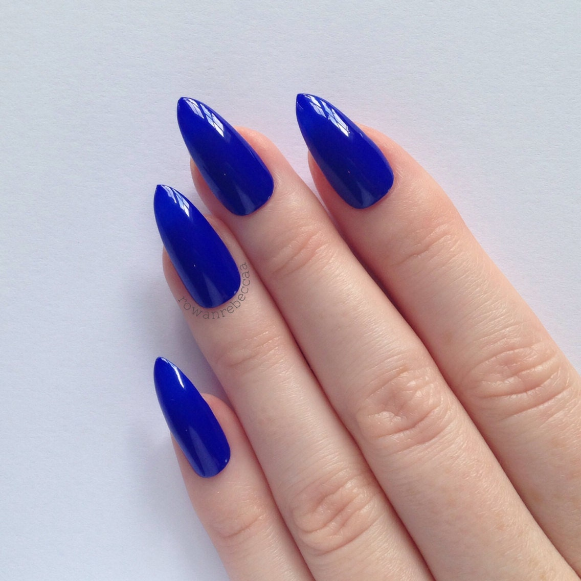 Blue Acrylic Nails – ledufa.com