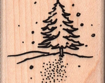 Living Christmas Tree Rubber Stamp - 885a
