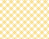 Pam Kitty Picnic Fabric Lakehouse Lake House Dry Goods Yellow Gingham Plaid bias LHC 13008 1/2 yard