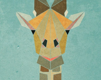 GIRAFFE   Limited Edition Print  A4 (8.5 X 11) with border