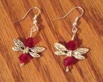 Red Faerie Earrings
