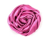"Mauve - Set of 3 Large 3"" Rolled Satin Flowers - RSF-003"