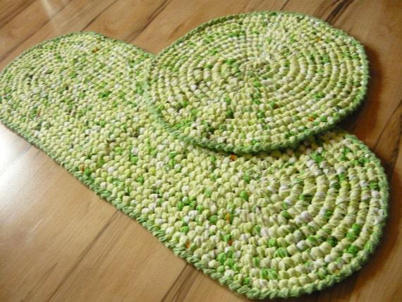 Tappeto Rotondo Con Fettuccia : Mano uncinetto tappeto all rotondo ...