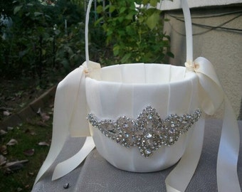 Sale Wedding Flower Basket Flower Girl Basket Rhinestone Flower Basket