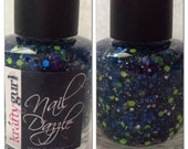 Nail Dazzle NFL Seattle Seahawks Indie Polish