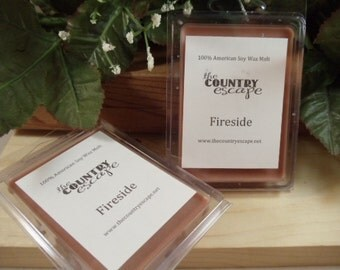 Fireside Scented 100% Soy Wax Melt - Warm and Cozy Scent- Maximum Scented