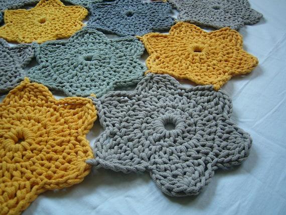 items similar to flower rug doily crochet rug bathroom