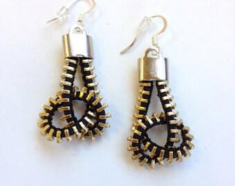 Twisted Pretzel Zipper Earrings