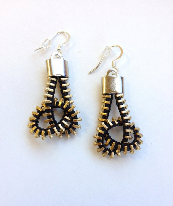 Twisted Pretzel Zipper Earrings