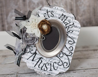 PRE-MADE Music Album - Premade Keepsake Scrapbook - Music Album - Memories