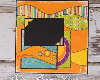 PRE-MADE 12x12  Adventure Scrapbook Page -   Loved One's Photo Page - Special Someone  Page