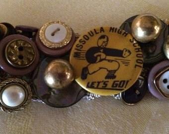 Special Order Memento Vintage Antique Button Bracelet