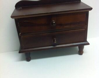 Vintage jewelry box wooden jewel cabinet / jewel organizer / jewel box / mini dresser
