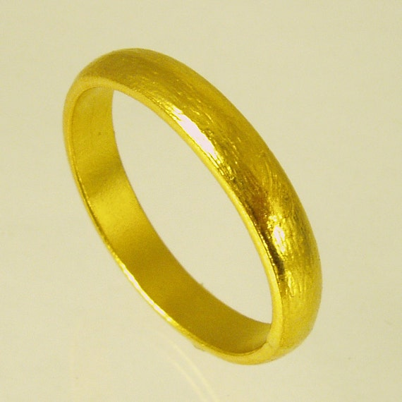Pure Solid gold wedding band 24 Karat solid gold