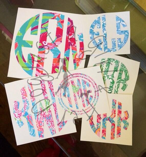 monogram machine stickers