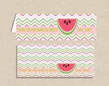 Party Favor Bag Topper - Thank You Topper for Sandwich Bag - Treat Bag Topper - Watermelon Party Bag Topper - Picnic Party Favor Topper