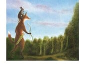 """Art Print of an Original Animal Painting: """"Searching for the Healing Sun"""""""