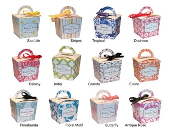 Choice Personalized Candy Buffet Boxes, Favor Boxes, Wedding Favour Boxes with Handle