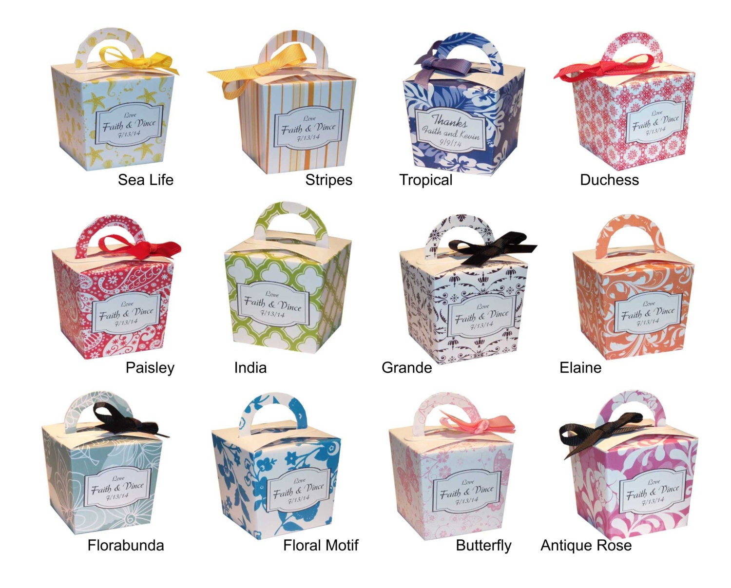 Choice Personalized Candy Buffet Boxes Favor By
