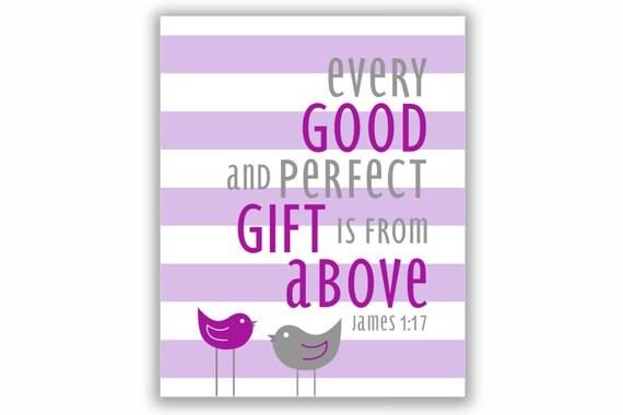 James 1:17 Nursery Print