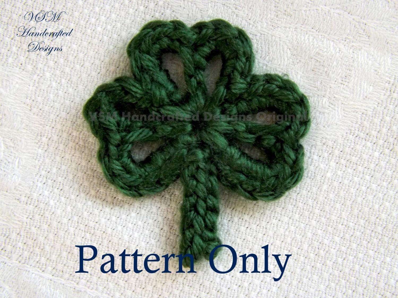 three leaf clover applique crochet pattern crochet shamrock