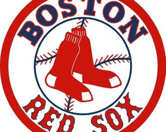 Boston Red Sox Cornhole Decals