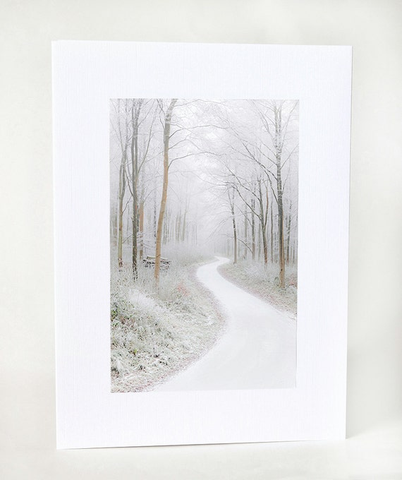 Fine Art Christmas Card UK, White Winter Wonderland, Handmade Photo Greeting Card UK Christmasinjuly CIJ