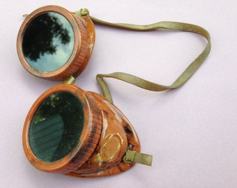 Tortoise-shell vintage welding goggles - STEAMPUNK - 1950s