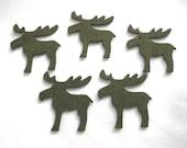 5 elk, felt, 6x6 cm, * COLOUR CHOICE * (F10-0005AXXX)