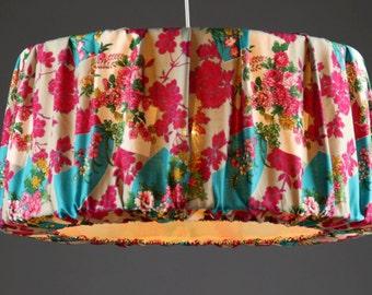 Ceiling Lamp flowers/fans .Japanese fabric .Diameter 56cm  Height 26cm