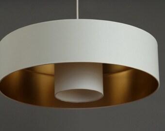 Ceiling Lamp  White/gold Kabuki  Diameter 50cm Height 13 cm